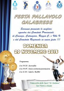 locandina Festa Pallavolo Calabrese